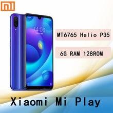 Celular Xiaomi mi jugar smartphone Mediatek MT6765 Helio P35 teléfono inteligente 1080x2280 píxeles