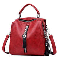 женская сумка кожанная 2020 модная чёрная сумка через плечо для женщин H19-013 вместительная сумка женская