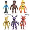 Большая 6 шт./компл. 15-19 см 6,5 ''Новая ПВХ фигурка Five Nights At Freddy's FNAF Bonnie Foxy Freddy Fazbear Медведь кукла детская игрушка