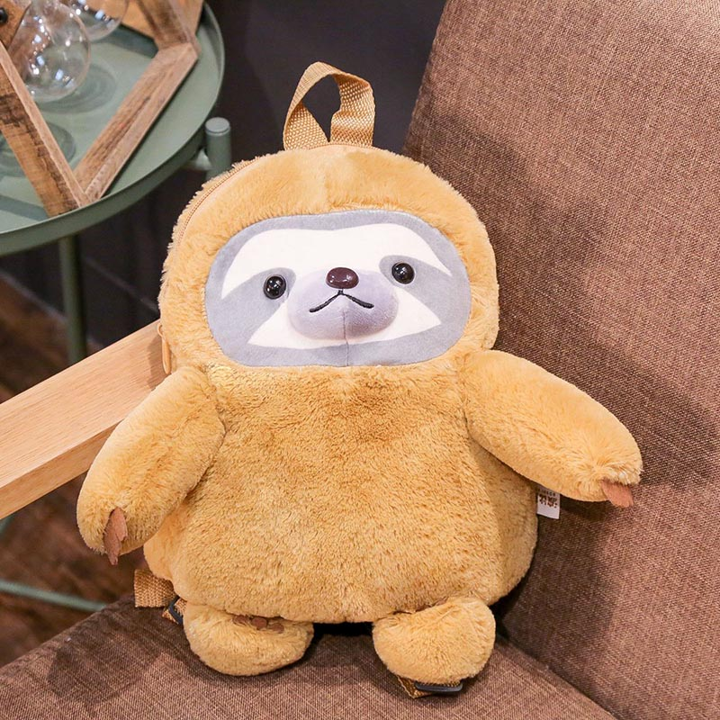 stuffed animal plush backpack lifelike sloth plush bag children school bag birthday gift for kids