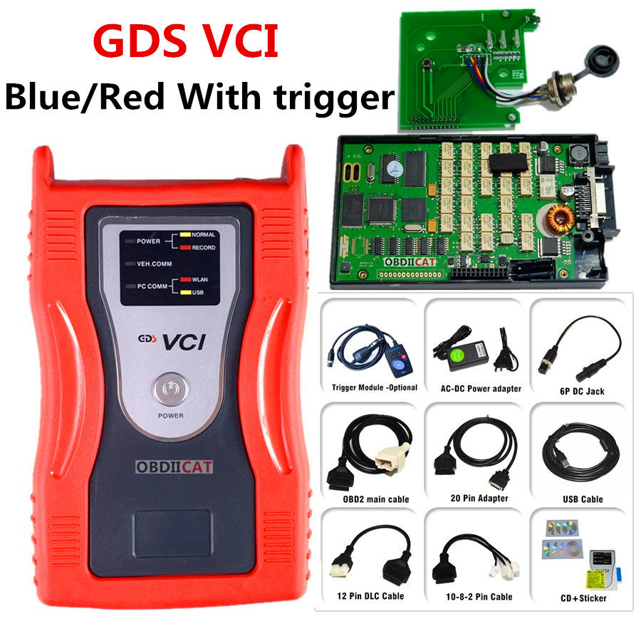 Gds VCI OBD2 Diagnostic Interface Tool OBD2 Scan Tool For Hyu--ndai K--ia ( With Trigger Module Flight Record Function Optional)