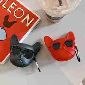 Para AirPods Pro funda de moda de dibujos animados divertido Bulldog Francés de silicona auriculares inalámbricos funda para Airpods Pro 3 funda de auriculares