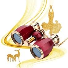 AOMEKIE 4X30 Opera Glasses Theater Binoculars Metal Frame Optical Lens Telescope with Chain Elegant Design for Women Girls Gift