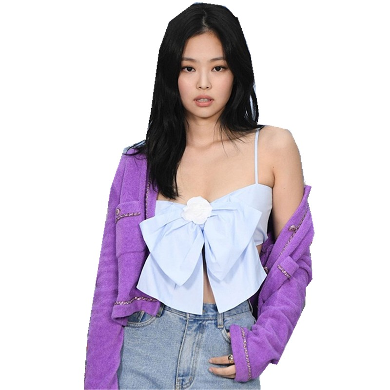 1 Set 2019 Autumn Vintage Shaggy Hairy Cardigan Back Elastic Ruched Bow Tank Top Single-breasted Button Knitted Sweater Jumper