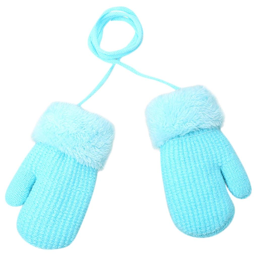 Blue 0-6 Months Baby Girls /& Boys Warm Winter Knit Mittens