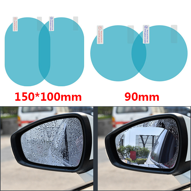 2PCS Car Rearview Mirror Protective Film Anti Fog Window Clear Rainproof Rear View Mirror Protective Soft Film Auto Accessories