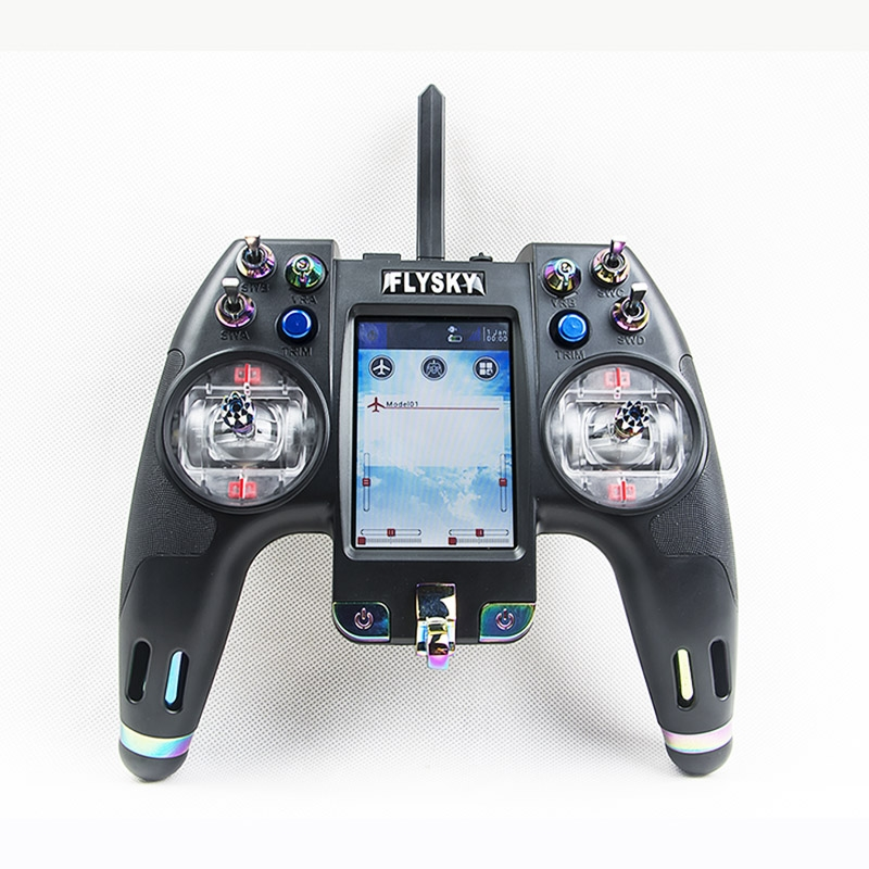 Flysky FS-NV14 2.4G 14CH Nirvana Transmitter Remote Controller With IA8X Receiver 3.5 Inch Display Open Source For RC Models