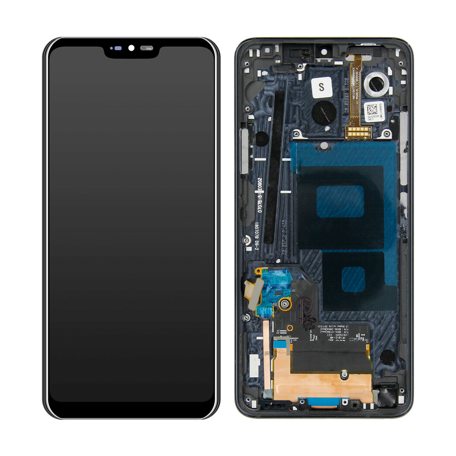 For LG G7 ThinQ G710 LCD Display Touch Screen Digitizer Assembly With Frame Black LCD Display Assembly For LG G7 ThinQ