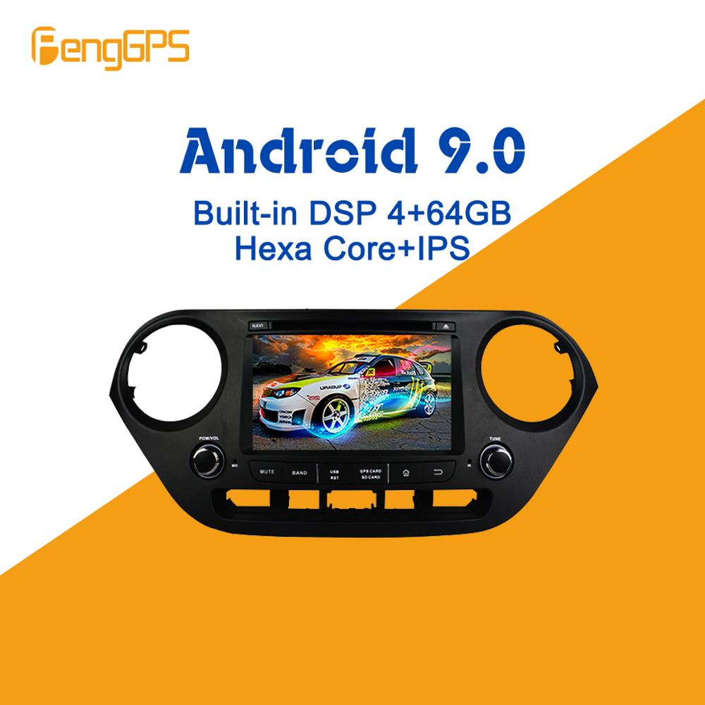 Android 9.0 PX6 DSP For Hyundai I10 I 10 2013   2018 Car Multimedia Stereo Player DVD Radio GPS Navigation Head unit screen Car Multimedia Player     - title=