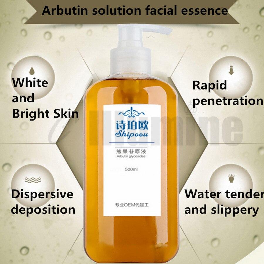 Solution d'arbutine Essence du visage réapprovisionnement 500ml hydrater éliminer la peau dessalée terne éclaircir le teint