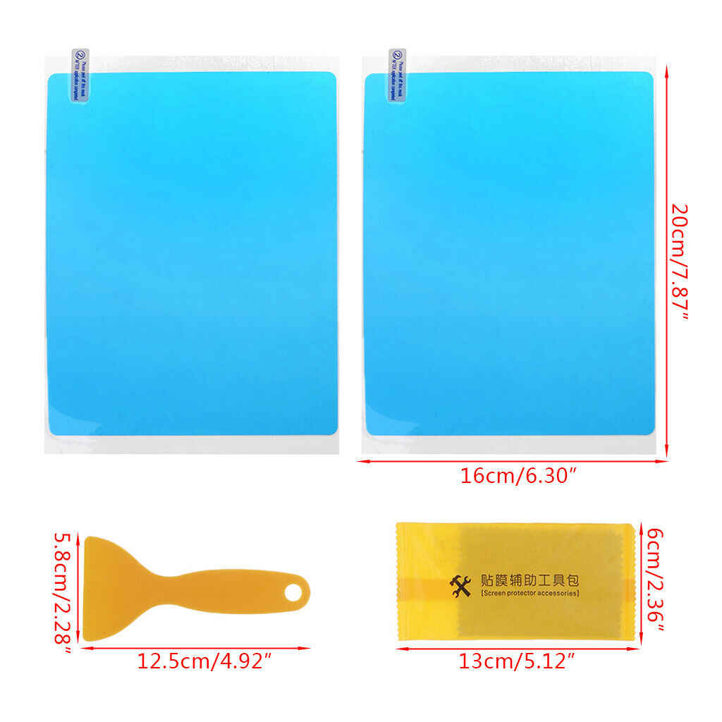 2 Pcs Car Side Window Protective Film Anti Fog Waterproof Anti Glare Membrane Sticker