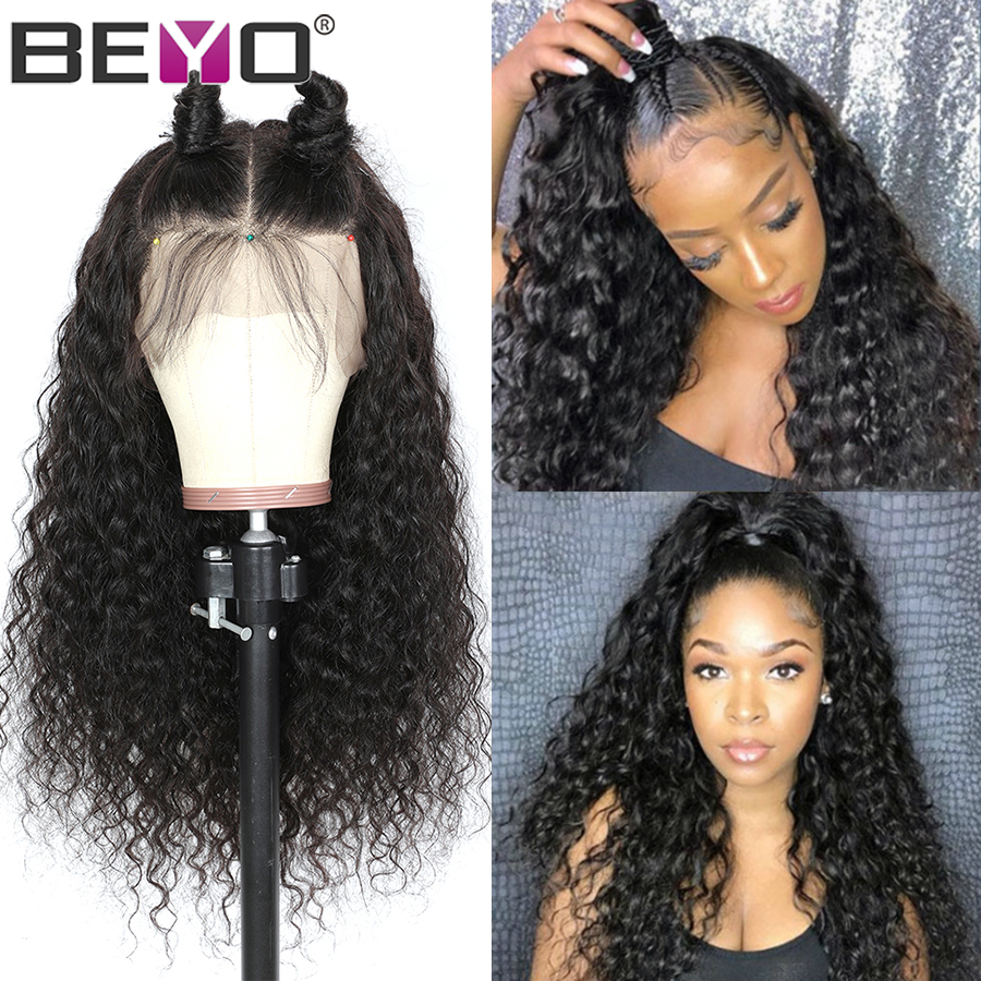 Peruvian Water Wave Wig 13X6 Lace Front Human Hair Wigs For Black Women 13X4 Lace Front Wig Beyo Remy Hair Lace Wigs 150%/180%