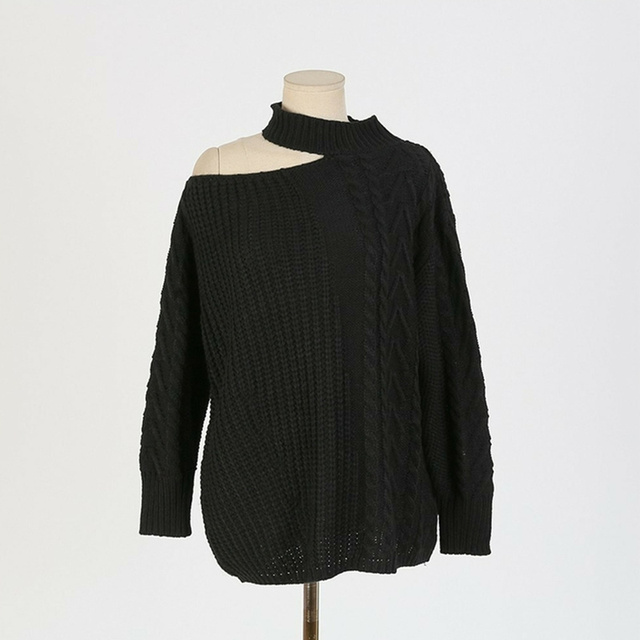 Ailegogo New 2021 Women's Sexy Sweaters Casual Minimalist Tops Sexy Korean Style Knitting Off Shoulder Ladies Autumn Winter 6