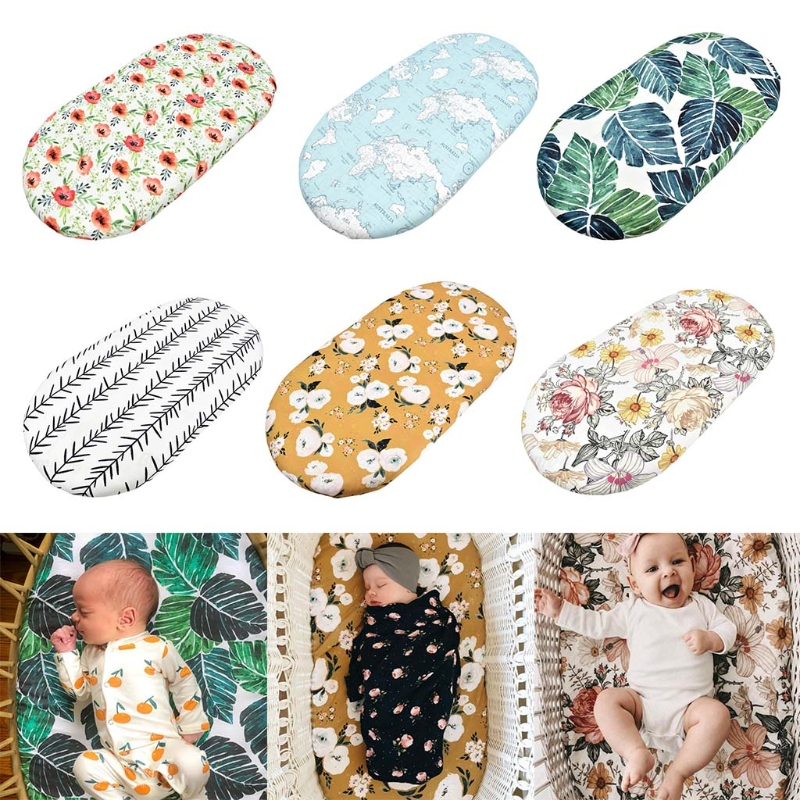 Baby Moses Basket Sheet Printing Crib Care Changing Table Pad Mattress Removable Cover Mini Cradle Bedding Protector