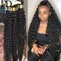 1 3 4 пряди сделка 30 32 40 дюймов глубокая волна бразильские волосы, волнистые пряди вьющиеся комплект воды оптом необработанные Виргинские Вол...