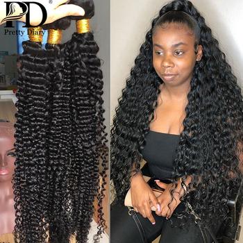 1 3 4 wiązki 28 30 32 34 40 Cal głęboka fala brazylijski włosy wyplata wiązki pasma kręconych włosów 100 ludzkich włosów Water falowane włosy typu remy tanie i dobre opinie Pretty Diary Remy włosy BR (pochodzenie) = 10 Tkactwo Kwas przetwarzania Ludzki włos Maszyna wątek dwukrotnie Brazilian Deep Wave 3 4 PCS Hair Bundles