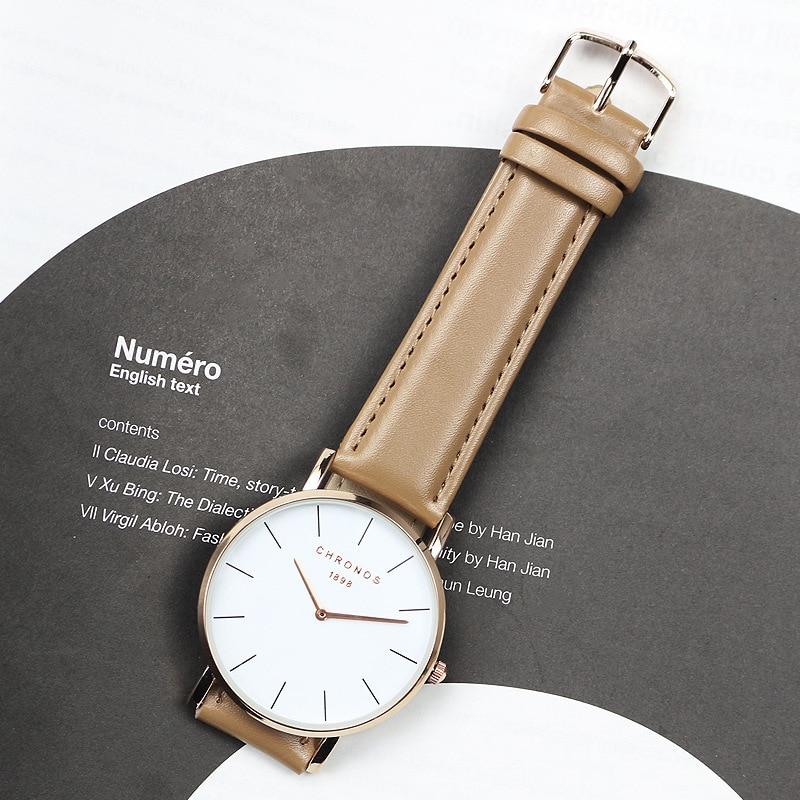 Japan Hot Selling Simple Casual Unisex Watch Fashion Belt Watch Men's Students Simple Watch
