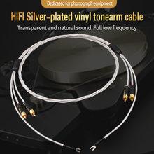 Изолированный посеребренный кабель тонарма аудиокабель с заземляющим