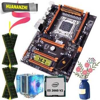 Игровая материнская плата HUANANZHI X79 deluxe с M.2 NVMe CPU Xeon E5 2660 V2 RAM 16G(4*4G) DDR3 RECC, гарантия качества