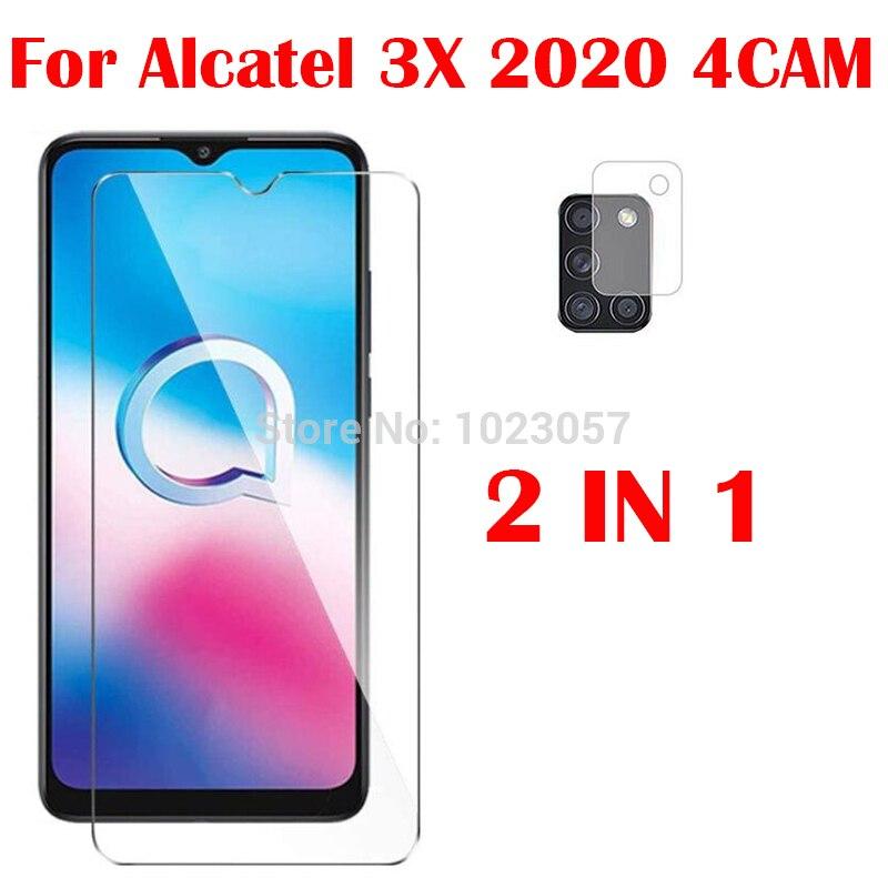 3-в-1 Камера защитная пленка из закаленного стекла на Alcatel Работает с любым оператором, 3X 2020 4CAM экрана мобильного телефона стекло для Alcatel Рабо...