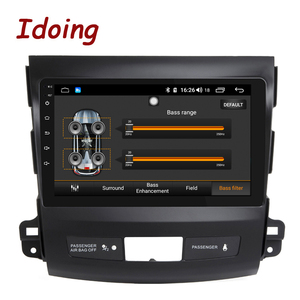 """Image 2 - Idoing 9""""4G+64G 2.5D IPS 8 Core Car auto Android Radio Multimedia Player For Mitsubishi Outlander 2006 2012 DSP GPS Navigation"""