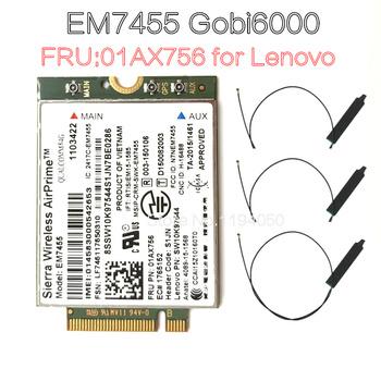 Sierra bezprzewodowy airprime Gobi6000 EM7455 WWAN karty NGFF FRU moduł 01AX756 dla Thinkpad X1 L470 X270 T570 urządzenia Qualcomm 4 doc tanie i dobre opinie WDXUN Wewnętrzny wireless Zdjęcie