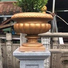 42cm/16.54in iyi dayanıklı ABS plastik yuvarlak bardak Bonsai ev bahçe dekorasyon çimento açık havada çiçek tohumu ekici vazo kalıp