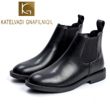 KATELVADI New Women Boots 2019 Winter 3CM Heels Ankle Shoes Size 35-40 Black Fashion Office Lady K-518