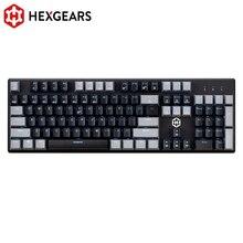 HEXGEARS GK706 メカニカルゲーミングキーボード Kailh MX ブルースイッチ 104 キー水抵抗メカニカルキーボードピンク