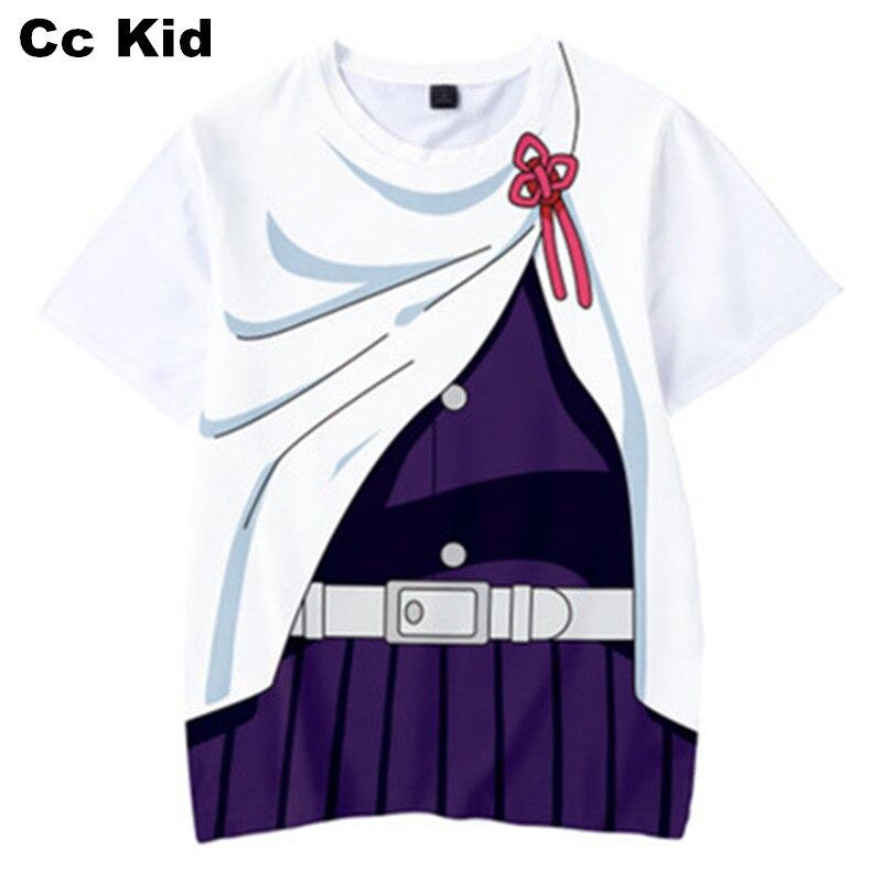 Летняя детская футболка с 3D принтом «Демон-убийца» футболка для косплея аниме одежда для мальчиков повседневные топы с короткими рукавами ...