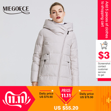 MIEGOFCE Warm Jacket Hood-Coat Collection Real-Bio-Parka Women's Windproof Stand-Up-Collar