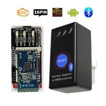 MINI ELM327 interruptor de alimentación con Bluetooth V1.5, ELM 327 V 1,5 OBD2 OBD II escáner para Android Torque Elm 327, herramientas de diagnóstico