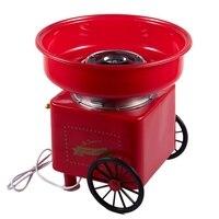 Household Mini Diy Sweet Cotton Candy Machine Electric Retro Sugar Maker Cart Cotton Candy Machine Commercial Floss Machine Eu P|Popcorn Makers|   -