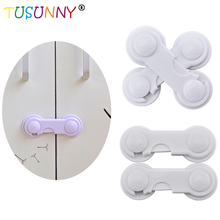 6 Pcs Plastic Baby Safety Drawer Lock For Children KidsFree Shipping