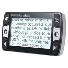 Video Magnifier, 4.3-Inch 6X-16X Mobile Portable Digital Magnifier Handheld Electronic Reading Aid EU Plug