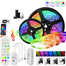 Ribbon Diode Control Led-Strip-Lights Waterproof Rgb Bluetooth/wifi 2835/5050 Tape Flexible
