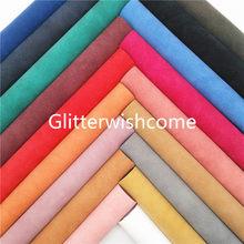 Glitterwishcome 21x29cm a4 tamanho dois tons camurça couro sintético com revestimento de feltro macio para arcos, gm970a