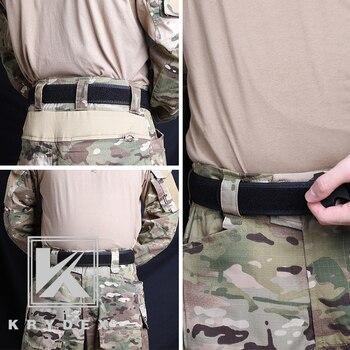 KRYDEX Buckleless iç astar bant 1.5 inç s-xxl taktik naylon döngü astar iç döngü kemer BK avcılık çekim aksesuarları