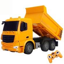 2,4 г интересный симулятор RC автомобиль инженерный грузовик супер мощность RC самосвал Модель Детские игрушки для мальчиков день рождения подарки на Рождество