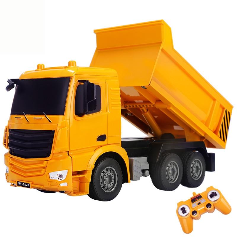 2.4G Interesting Simulation RC Car Engineering Truck Super Power RC Dump Truck Model Children's Toys Boys Birthday Xmas Gifts