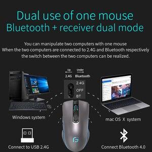 Image 4 - CHOTOG 무선 마우스 블루투스 5.0 + 2.4G 게임 컴퓨터 마우스 게이머 인체 공학적 2400 인치 당 점 광학 전문 마우스 PC 노트북