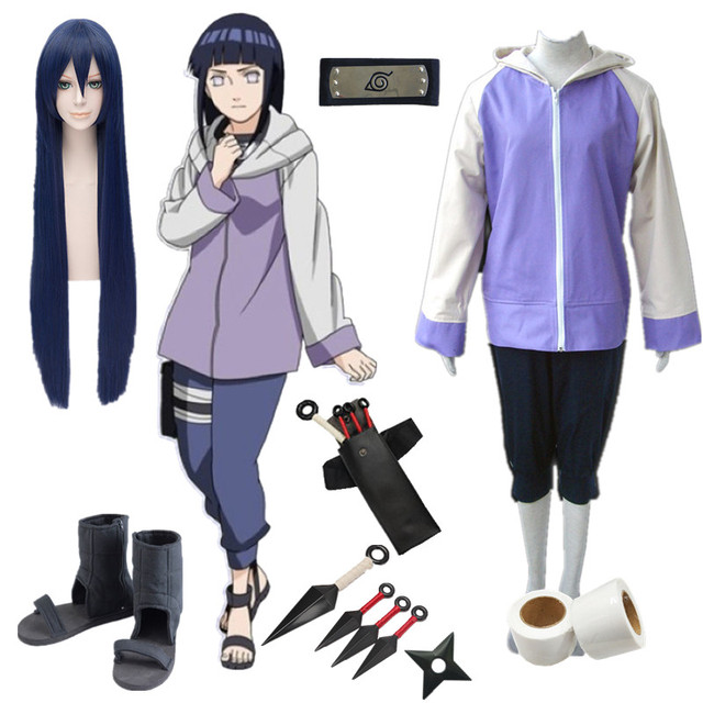 Anime Naruto Hyuga Hinata Cosplay Kostüm Heißer Naruto Hinata Hyuga 2nd Generation Für Erwachsene Frauen Männer Kostüm