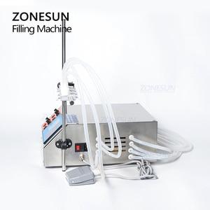 Image 5 - ZONESUN 4nozzle Bottle Water Filler Semi Automatic Liquid Vial Filling Machine For Juice Beverage Soy Sauce Oil Perfume
