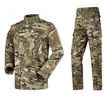 2 Pieces Men Outdoor Sports Camouflage Jacket Pants Set Military Tactical Clothing for Hunting Camping Hiking Soldier Training(China)