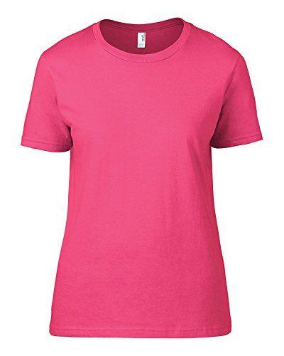 Anvil Women's Fashion Basic Tee TShirt Neon Pink X-Large