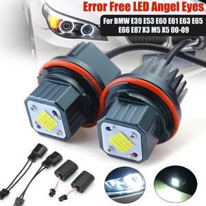 2 uds 80W Error libre 16 marcador LED ojos de Angel bombillas de luces para BMW E39 E53 E60 E61 E63 E65 E66 E87 525i 530i xi 545i X3 M5 X5