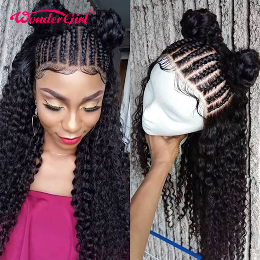 Wonder Girl 250 Density Lace Wig Brazilian Water Wave Wig 13x6 Curly Lace Front Human Hair Wigs Remy Lace Front Wigs Pre Plucked