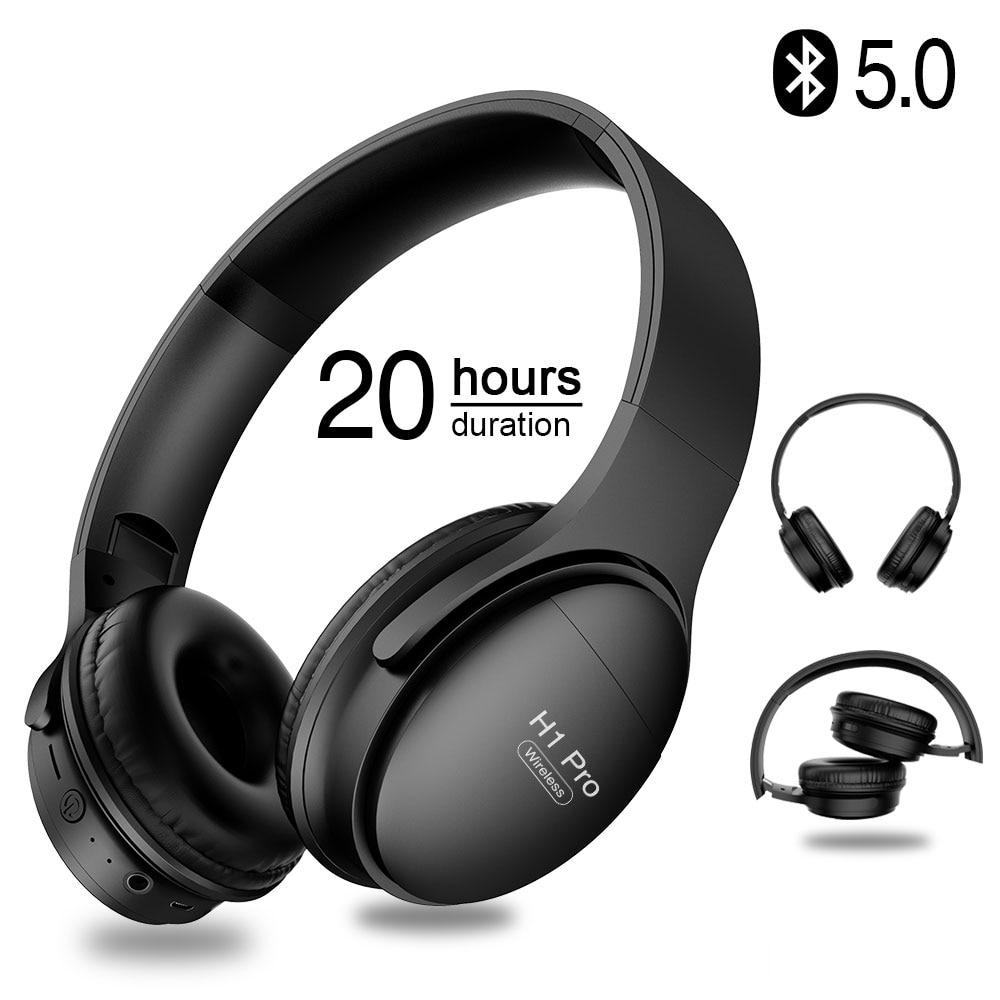 H1 Pro Bluetooth Наушники Hi-Fi стерео беспроводные наушники игровые гарнитуры наушники с шумоподавлением с микрофоном Поддержка TF карты