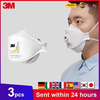 Máscara Aura 3M paquete Individual Original máscara de pescado con válvula de flujo frío Mascarillas desechables en Stock entrega rápida