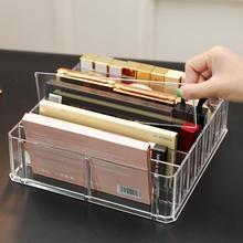 Clear Acrylic 8 Grid Makeup Organizer Storage Box Women Powder Lipstick Eye Shadow Display Stand Holder Cosmetic Storage Box